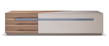 TV120  Taupe/Walnut Modern Tv base by J&M Furniture