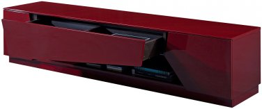 Modern TV125 Red Gloss TV Stand by J&M Furniture