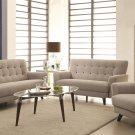 Maguire Lt Grey Contemporary Sofa and Loveseat