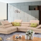 A761 Peanut Italian Leather Sectional Sofa in  By J&M