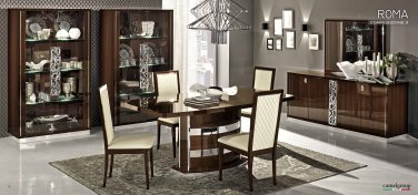 Roma Walnut Modern Dining 5pc Set By ESF