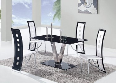 D551DT + D803DC-WH 5pc Dining Set by Global