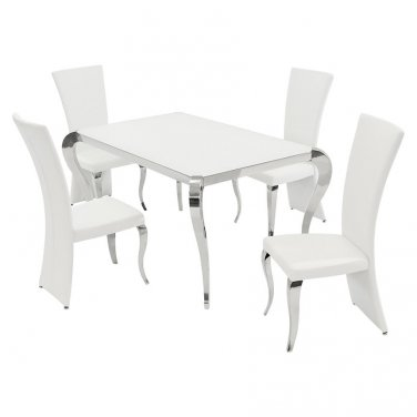 TERESA-DT-RCT 5 Piece Dining Set by Chintaly