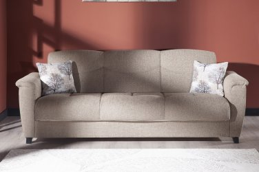 Aspen Forest Brown Sofa Bed With Storage