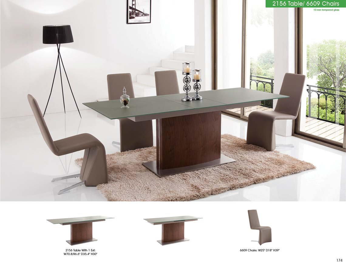 2156 Dining Table with 6609 Chairs By ESF