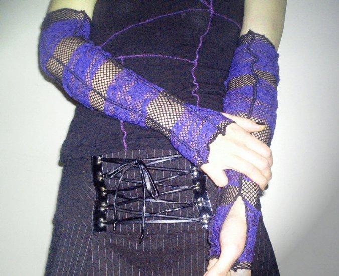 Fishnet & Lace Tatter Armwarmers  SL1-4034
