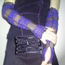 Fishnet & Lace Tatter Armwarmers  SL1-4034