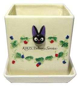 Ghibli - Kiki's Delivery Service - Jiji - Planter Pot & Water Plate (square) - Ceramics - 2006 (new)