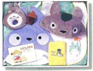 Baby Gift Set - 6 items - Totoro Cap & Baby Bid & Rattle & Towel - Totoro - Sun Arrow (new)