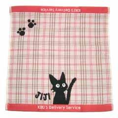 Ghibli - Kiki's Delivery Service - Jiji - Hand Towel - Jacquard Weave & Gauze - pink (new)