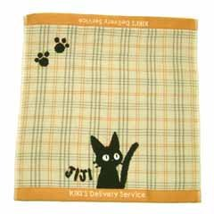 Ghibli - Kiki's Delivery Service - Jiji - Hand Towel - Jacquard Weave & Gauze - yellow (new)