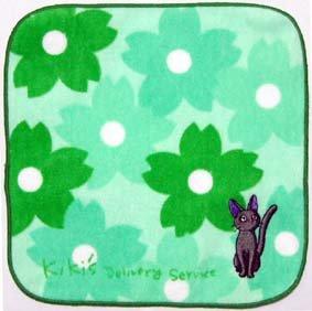 Ghibli - Kiki's - Jiji - Mini Towel - Jiji Embroidered - green (new)