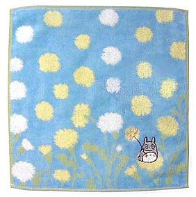 Ghibli - Totoro - Mini Towel - Totoro Embroidered - Non Twisted Thread & Jacquard -nohara-blue(new)