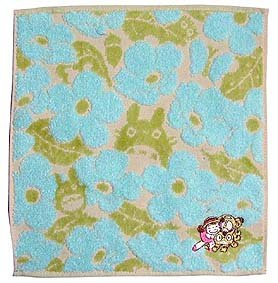 Ghibli- Totoro - Mini Towel - Nekobus Mei Embroidered-NonTwisted-kadan-blue-outproduction-3left(new)