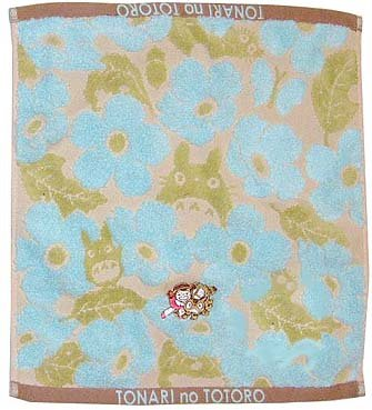 Ghibli- Totoro - Hand Towel - Nekobus Mei Embroidered-NonTwisted-kadan-blue-outproduction-2left(new)