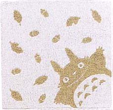 Ghibli - Totoro - Mini Towel - Natural Colored Cotton - omajinai - green (new)