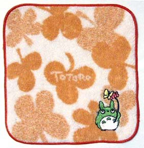 Ghibli - Totoro - Mini Towel - Totoro & Butterfly Embroidered - beige - Clover (new)