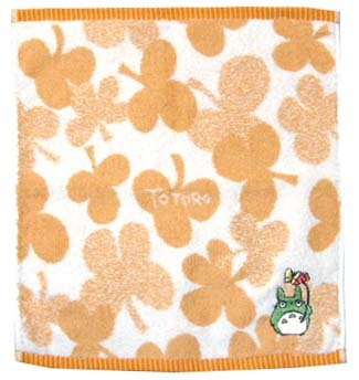 Ghibli - Totoro - Hand Towel - Totoro & Butterfly Embroidered - beige - Clover (new)