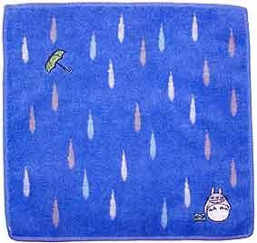 Ghibli - Totoro - Mini Towel - Totoro & Frog & Umbrella Embroidered - shizuku (new)