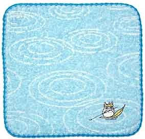 Ghibli - Totoro - Mini Towel - Non Twisted Thread - Totoro on Leaf Embroidered - hamon (new)