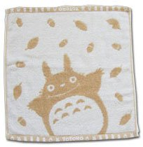Ghibli - Totoro - Hand Towel - Natural Colored Cotton - omajinai - brown (new)