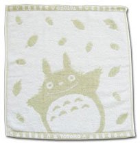Ghibli - Totoro - Hand Towel - Natural Colored Cotton - omajinai - green (new)