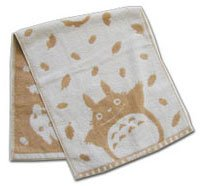 Ghibli - Totoro - Face Towel - Natural Colored Cotton - brown - Omajinai (new)
