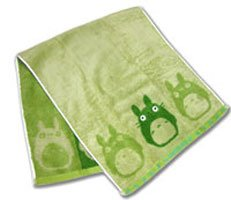 Ghibli - Totoro - Face Towel - Non Twisted Thread & Shaggy Weave & Loop - popuri - green (new)