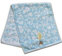 Ghibli - Totoro - Face Towel - Totoro Embroidered - Non Twisted Thread - blue (new)