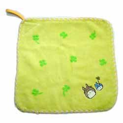 Ghibli - Totoro - Loop Mini Towel -NonTwistedThread- Embroidered-hira-yellow- SOLD (new)