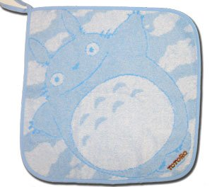 Ghibli - Totoro - Loop Mini Towel - Totoro Logo Embroidered - ozora - blue (new)