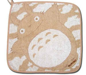 Ghibli - Totoro - Loop Mini Towel - Totoro Logo Embroidered - ozora - brown (new)