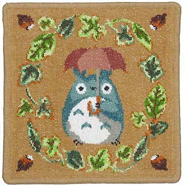 Totoro - Mini Towel - Chenille Weave - Reversible - Ikibuki Beige (new)
