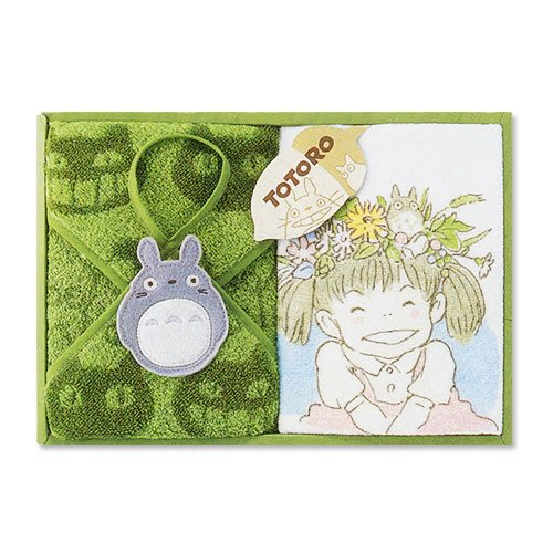 Ghibli - Totoro - Towel Gift Set - Wash & Loop Hand Towel - Hohoemi - RARE (new)