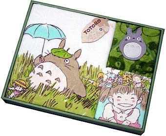 Ghibli - Totoro - Towel Gift Set - Face & Bath & Loop Hand Towel - Hohoemi - RARE (new)