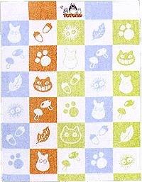 Ghibli - Totoro - Small Towel Blanket - 88x115cm - Non Twisted Thread - Oyasumi - RARE (new)