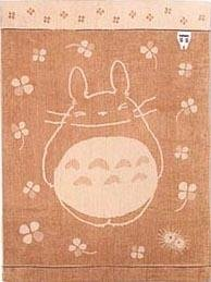 Ghibli - Totoro & Sho - Towel Blanket 140x190cm- Organic Cotton-utatane-outproduction- 1 left(new)