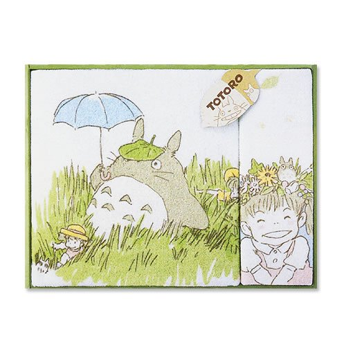 Ghibli - Totoro - Towel Gift Set - Wash & Bath Towel - Hohoemi - RARE (new)