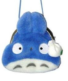 Gamaguchi Coin Purse - Shoulder Strap - Chu Totoro - Ghibli - Sun Arrow (new)