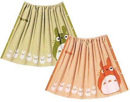 Ghibli - Totoro & Sho Totoro - Wrapping Towel - 80x120cm - narabi - green (new)