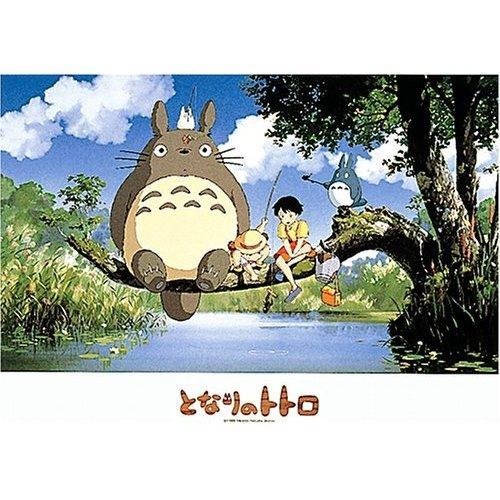 500 pieces Jigsaw Puzzle - fishing - Totoro & Chu & Sho Totoro & Mei & Satsuki(new)