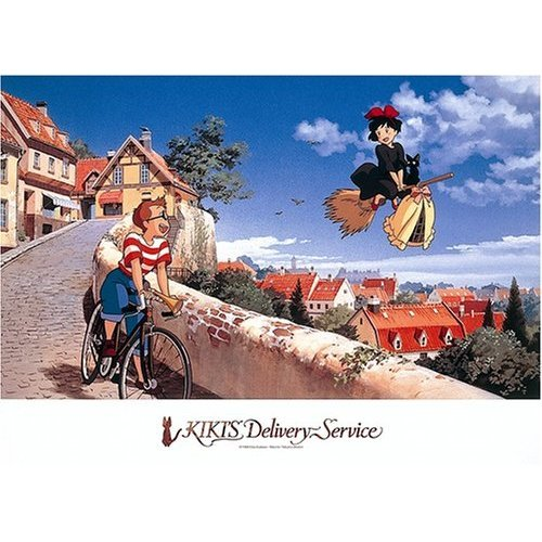 500 pieces Jigsaw Puzzle - dokoe todokeru no - Kiki & Jiji - Kiki's Delivery Service - Ensky (new)