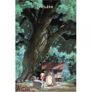 1000 pieces Jigsaw Puzzle - kusunoki no yashiro - Totoro & Mei & Shrine - Ghibli (new)