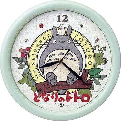 Ghibli - Jigsaw Puzzle Clock (117 pieces) - Totoro & Sho Totoro & Makkuro Kurosuke - SOLD(new)