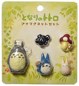 Ghibli - Totoro & Chu & Sho & Kurosuke & Mushroom - Magnet Set - 2006 -outproduction- SOLD (new)