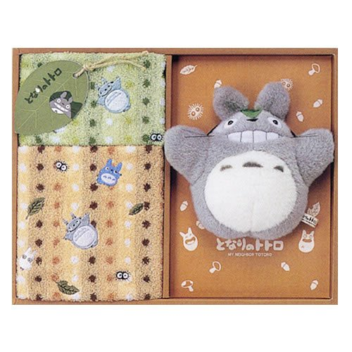 Ghibli - Totoro - Towel Gift Set - Wash & Face Towel & Ring Hanger & Message Card - 2006 (new)