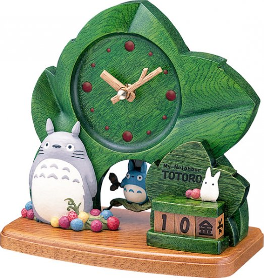 Ghibli - Totoro - Table Clock - All Year Calendar - Chu Totoro Pendulum (new)