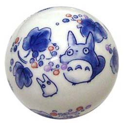 Ghibli - Totoro & Sho Totoro - Porcelain Float Ball - kinomi - 2006 (new)
