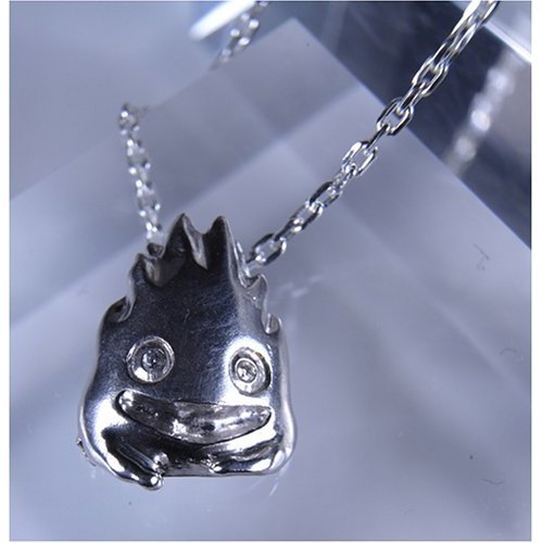 Ghibli- Howl's Moving Castle- Calcifer Necklace- Silver 950 Cubic Zirconia-outofproduction-RARE(new)