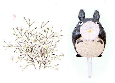 Ghibli - Totoro - Planter Pot & Pick & Seed & Soil Set - Gypsophila (new)
